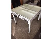 OLIVER BONAS DINING TABLE GLASS TOP