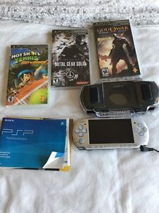Mint Sony PSP with 3 games
