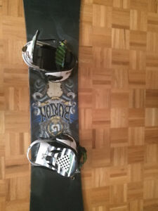Burton Snowboard, case and & 9 1/2 size boots