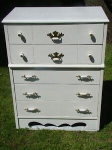 2 white non matching dressers......70.00 each