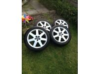 17 inch original Volvo alloys with tyres