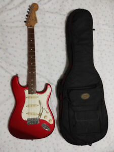 Fender Stratocaster Electric Guitar - Made In Japan - Candy Red