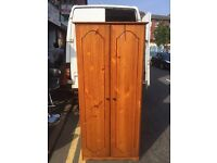 Pinewood wardrobe for sale good condition £50 free delivery