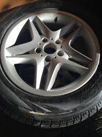 BMW RIMS AND WINTER TIRES MINT CONDITION (255/55 R18)