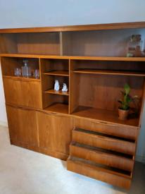 Retro Vintage 1960s Mid Century Teak Display Cabinet by Glasgow maker