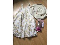H&M girls dress and cardigan set Age 9-10
