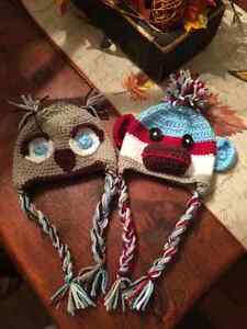 Crocheted hats all sizes Stratford Kitchener Area image 1