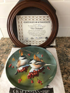 "KNOWLES ""THE CHICKADEE"" COLLECTORS PLATE"
