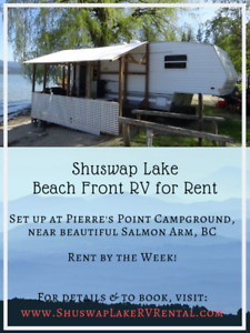 RV for Rent on beautiful Shuswap Lake