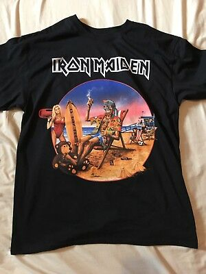 Iron Maiden L Rare California Event T Shirt The Book Of Souls World Tour 2017