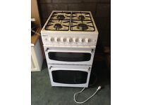 BEKO Double oven gas cooker.