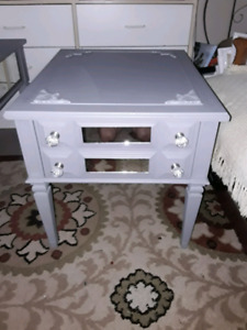 Grey side table