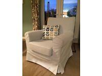IKEA Jennylund blue armchair