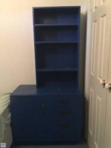 Bedside drawer, steel spring bed base and bookcase Cherrybrook Hornsby Area Preview
