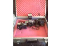 X3 vintage looking cameras