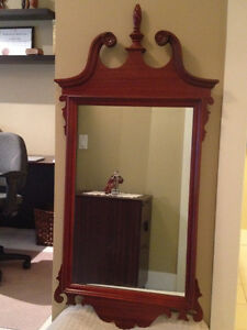 Mahogany antique mirror