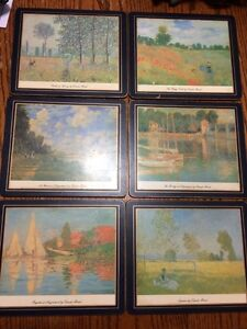 6 Lady Clare wood placemats