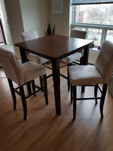 Gorgeous High Top Table with 4 Stools