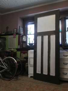antique 1920s solid wood MISSION style 4panel Door