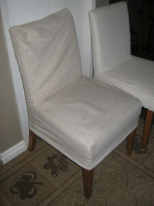 2 Dining chairs with slipcovers