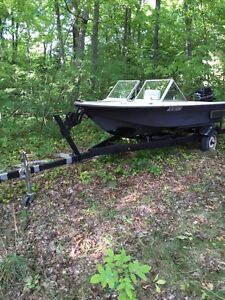 Boat motor and trailer for sale! Or trade for motorcycle