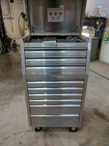 Stainless steel toolbox.