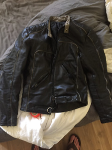 1970's leather motorcycle jacket