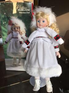Vintage Heirloom Porcelain Doll in original box - REDUCED!