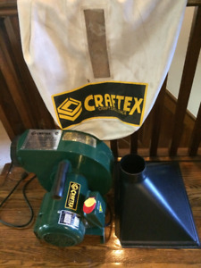 50% off almost NEW 1 HP Craftex Dust Collector System, Bag&Hose