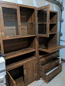 2pc Shelve cabinet with drawer furniture