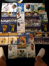 Leeds United memorabilia 27 programmes from around 1997 to 2002