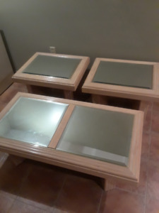 Coffee Table with 2 End Tables Set