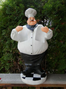 LARGE Chef shaped WINE BOTTLE HOLDER