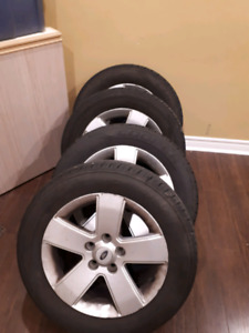 Set of 4 All Season 205 60 16 on Ford rims
