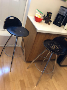 STOOLS (tall) for sale - real wood and metal.