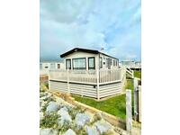 Second hand Caravan with decking with seaview