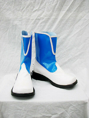 Final Fantasy FF X-2 10-2 RIKKU Cosplay Schuhe Kostüm Shoes Stiefel boots blau