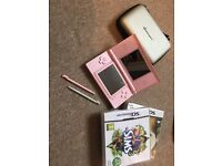 Nintendo DS Lite with games, case and accessories