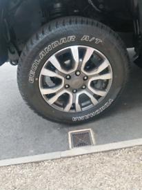 "18"" diamond turned Ford Ranger Alloy & new tyres"
