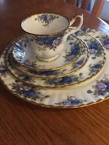 Royal Albert country blue rose Prince George British Columbia image 2