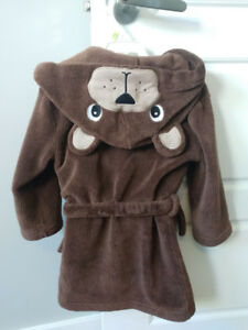 Excellent Condition:  Joe Fresh Toddler Hooded Bear Housecoat 3T