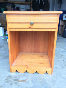 cedar handcrafted bedside table