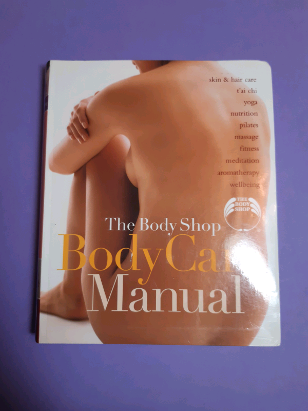 The body shop body care manual book yoga massage, wellbeing.