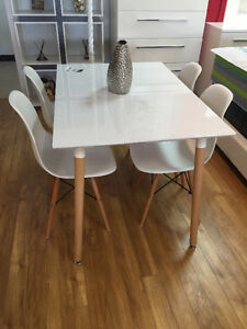 Modern 5pc dining table set