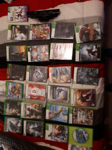 Xbox 360, Xbox 1 games, and Wii games, console, accessories