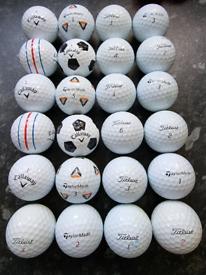 24 Golf Balls Titleist Pro V1 Mixed