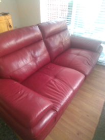 Ex Harvey's sofa and chair sofa size 6fft 8 w 3ft 2 h cost 2 k to new