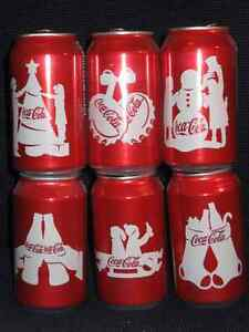 Coca Cola Christmas 2012 Set of 6 Cans