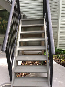 TOP BEST WELDED aluminum railing $40/Lf supply and install. With