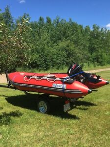 For Sale or Trade - 12' Inflatable, 15hp Merc, trailer